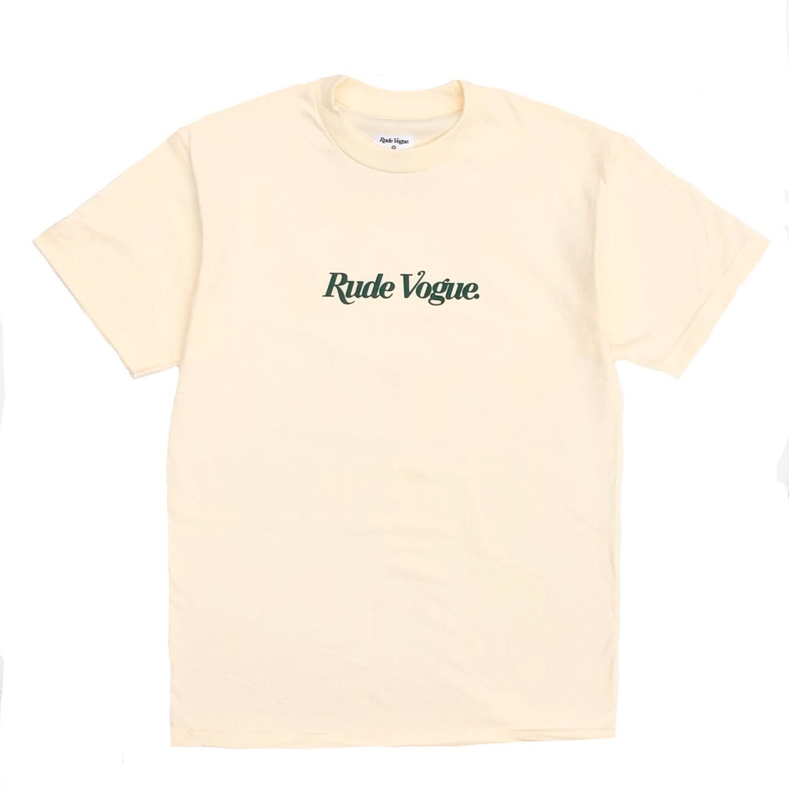 RUDE VOGUE M'S T-SHIRTS RUDE VOGUE T-SHIRT - CREAM/FOREST GREEN