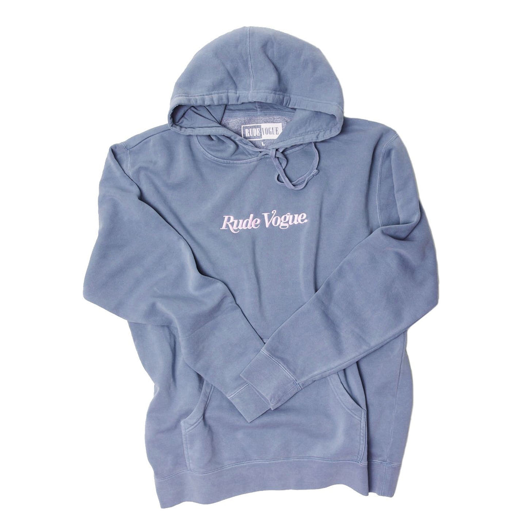RUDE VOGUE HOODIE - WASHED BLUE