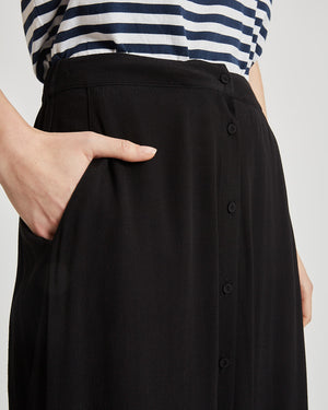 MINIMUM W'S SKIRTS MAISA MIDI SKIRT - BLACK