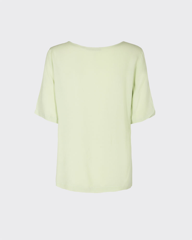MINIMUM W'S SHIRTS ELVIRE SHORT SLEEVED BLOUSE - SEAM FOAM
