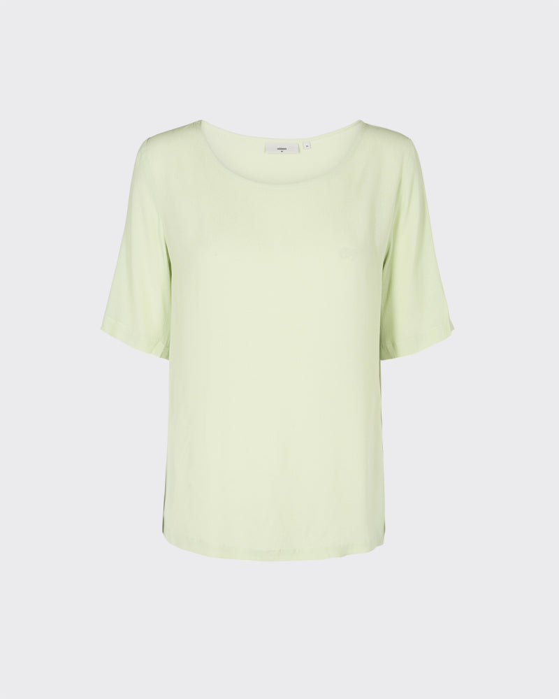MINIMUM W'S SHIRTS SEA FOAM 34 ELVIRE SHORT SLEEVED BLOUSE - SEAM FOAM