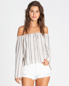 LIGHT IT UP OFF-THE-SHOULDER TOP