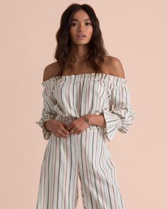 BILLABONG X SINCERELY JULES TULUM WEATHER OFF THE SHOULDER TOP