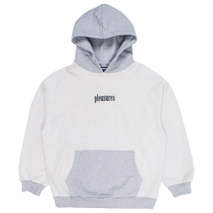 PLEASURES M'S HOODIES GREY S LOGIC REVERSE TERRY HOODY