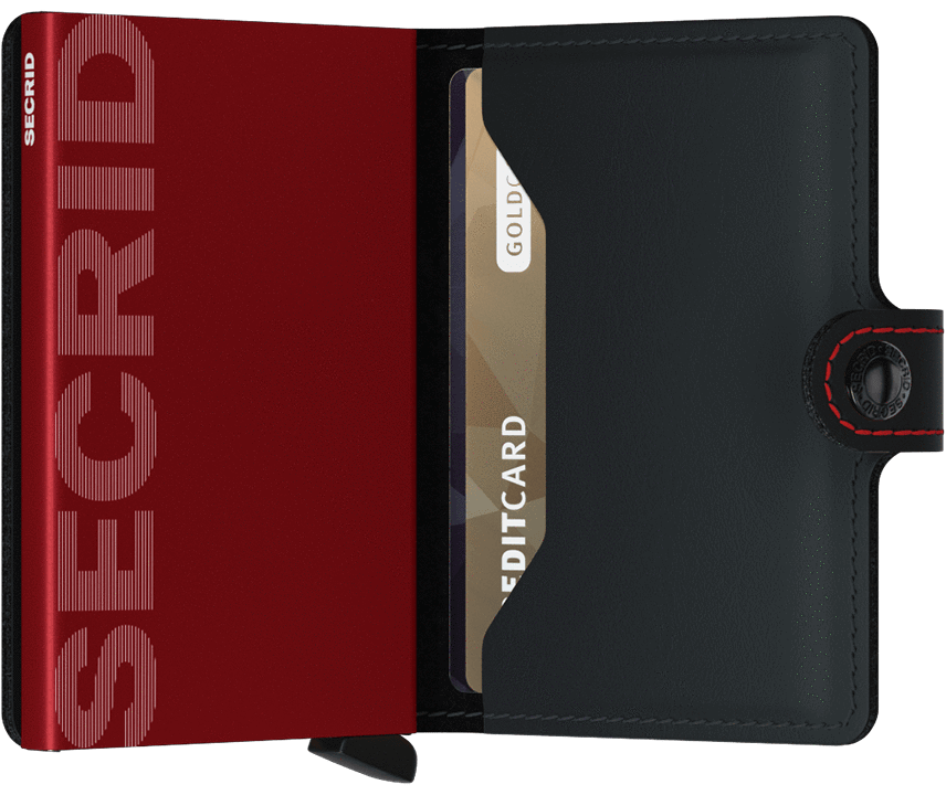 SECRID WALLETS MINIWALLET MATTE BLACK & RED
