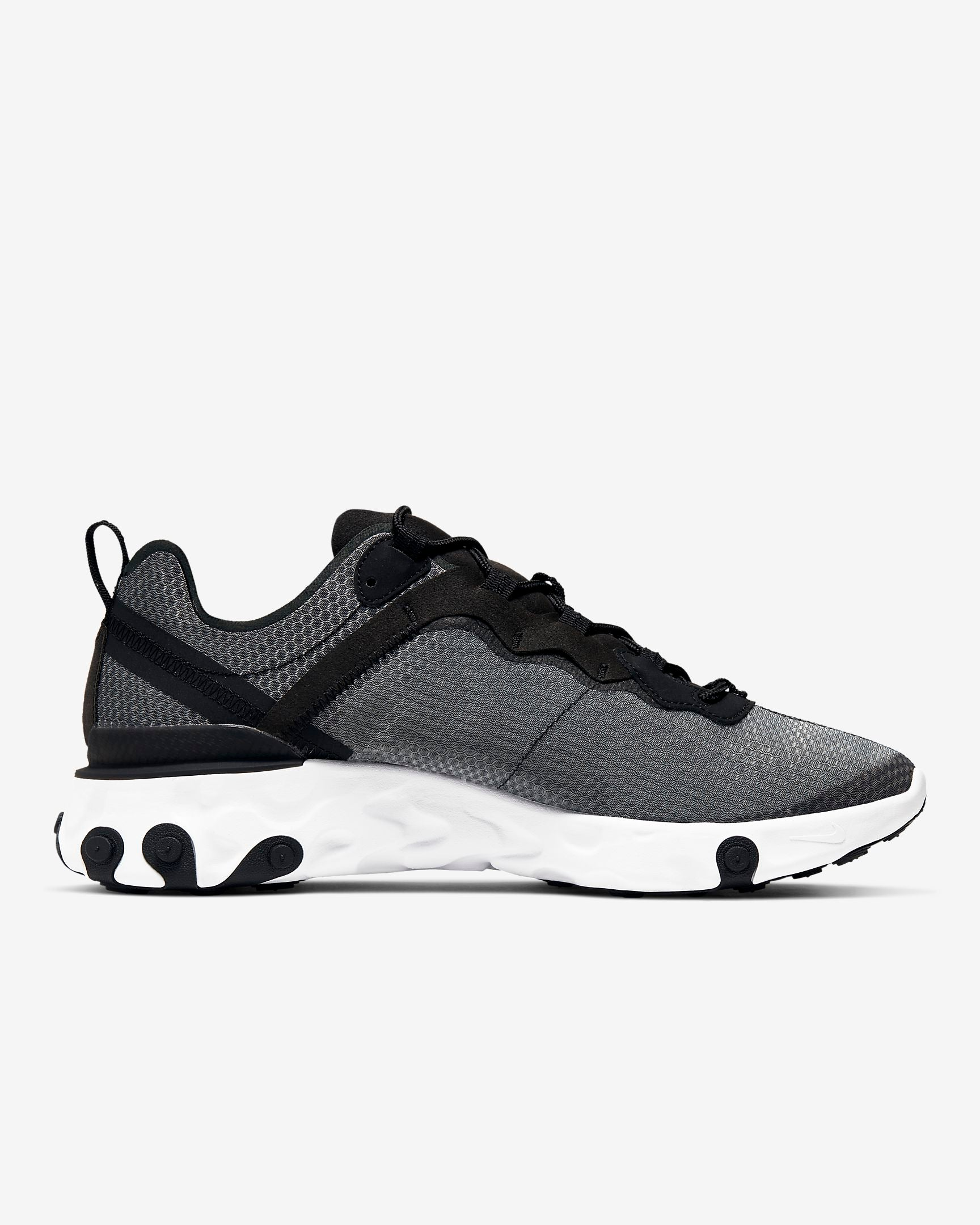 NIKE M'S FOOTWEAR NIKE REACT ELEMENT 55 SE - BLACK/ANTHRACITE/DARK GREY