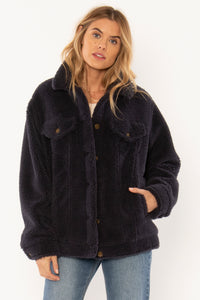 AMUSE SOCIETY W'S CASUAL JACKETS SHEA SHERPA JACKET