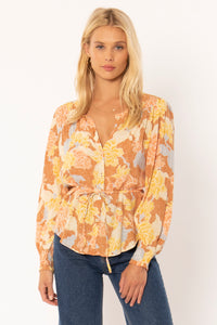AMUSE SOCIETY W'S SHIRTS SHEANA WOVEN TOP