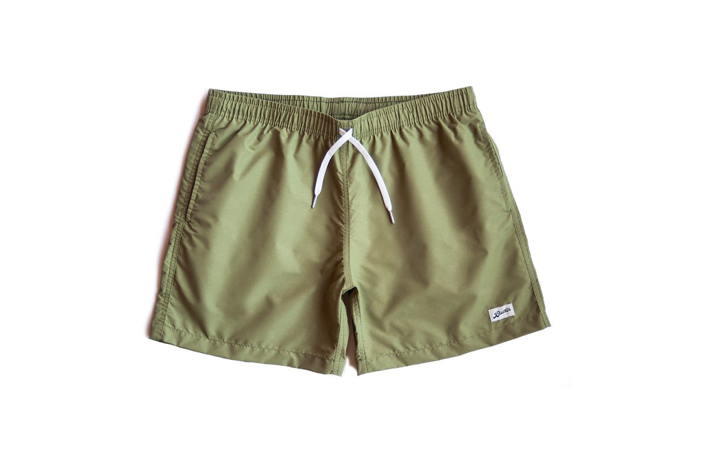 SOLID OLIVE SWIM TRUNK