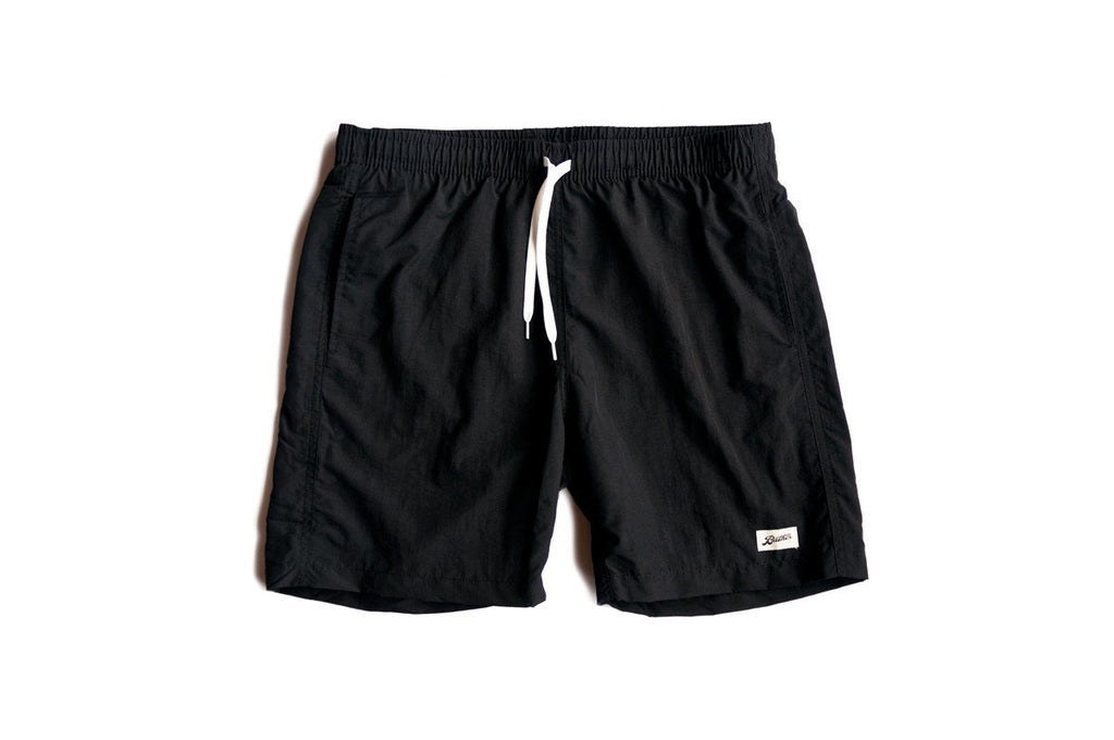 SOLID BLACK SWIM TRUNK