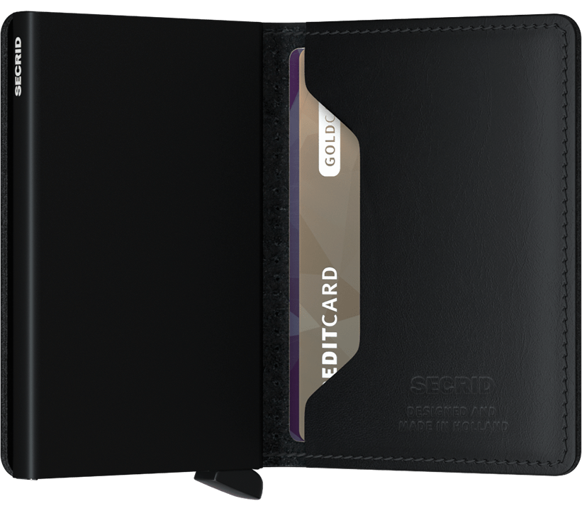 SECRID WALLETS SLIMWALLET PERFORATED BLACK