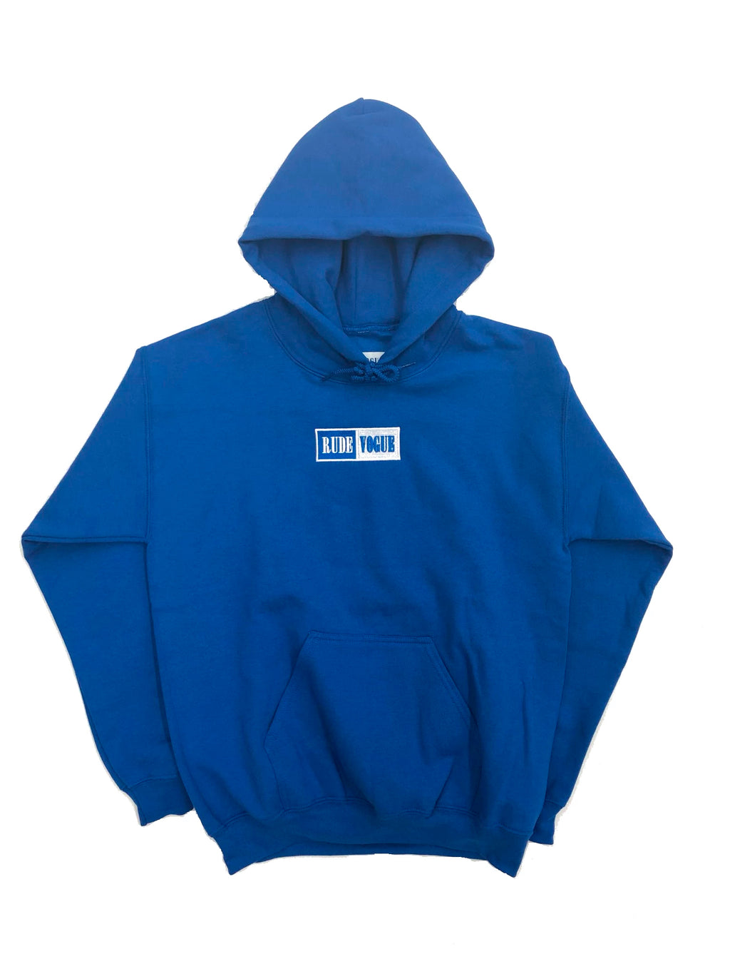 WARM UP HOODIE - ROYAL BLUE/WHITE