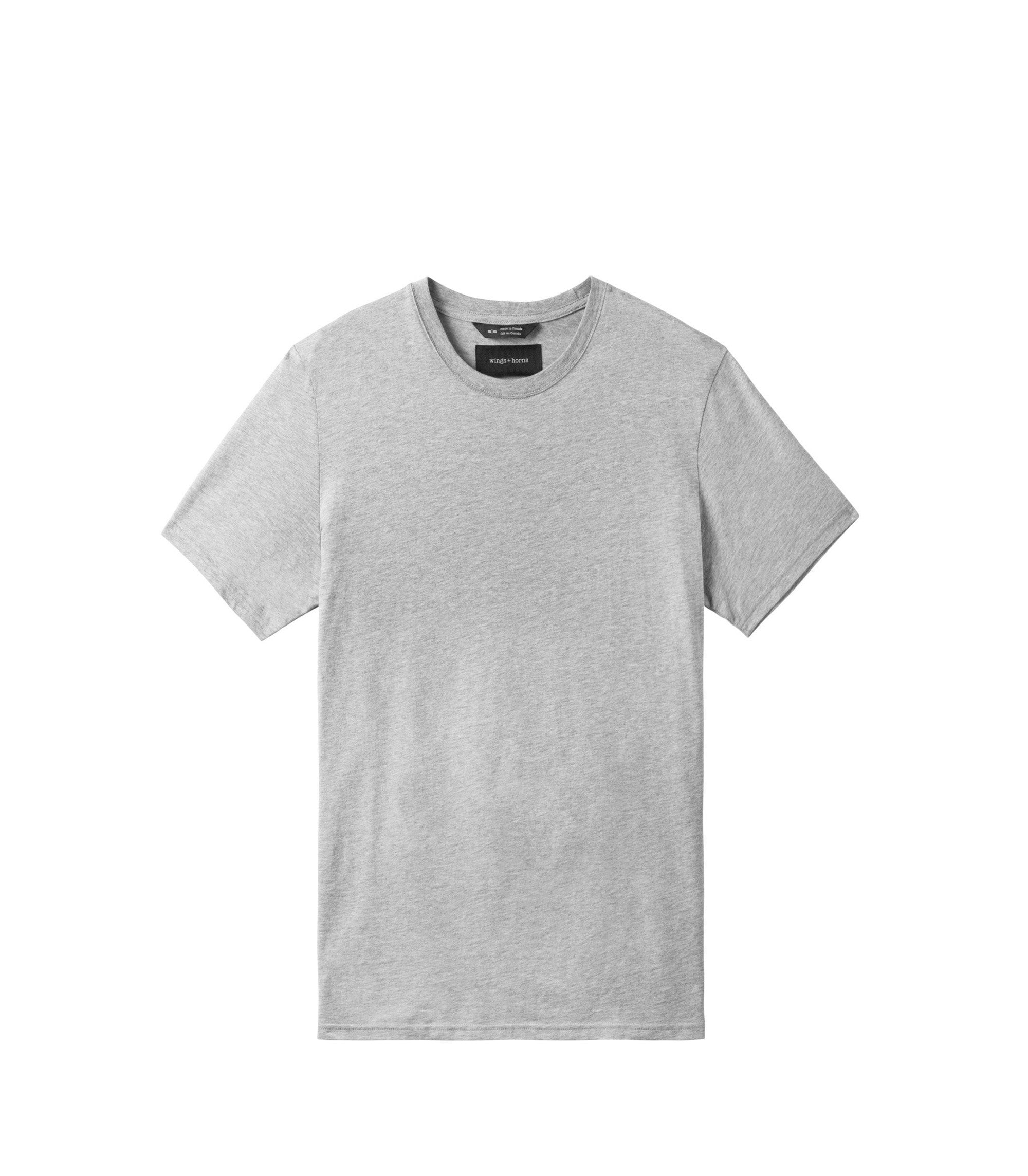 WINGS + HORNS M'S T-SHIRTS Gry L ORIGINAL TEE