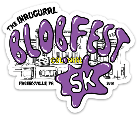 Blobfest 5k Die Cut Sticker