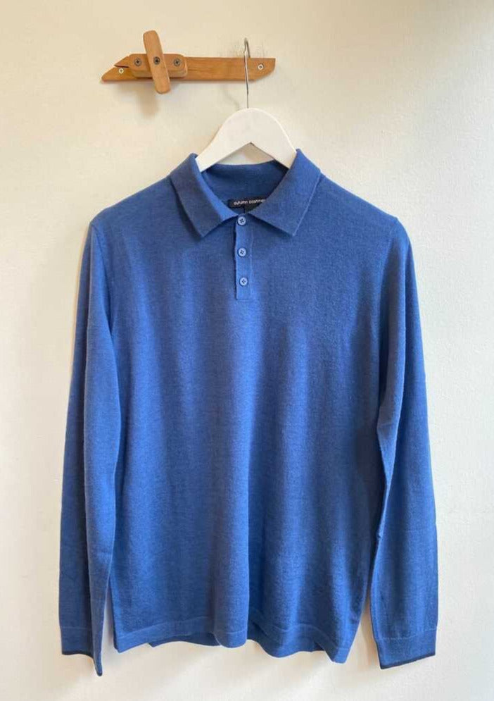 Cashmere Long Sleeve Polo