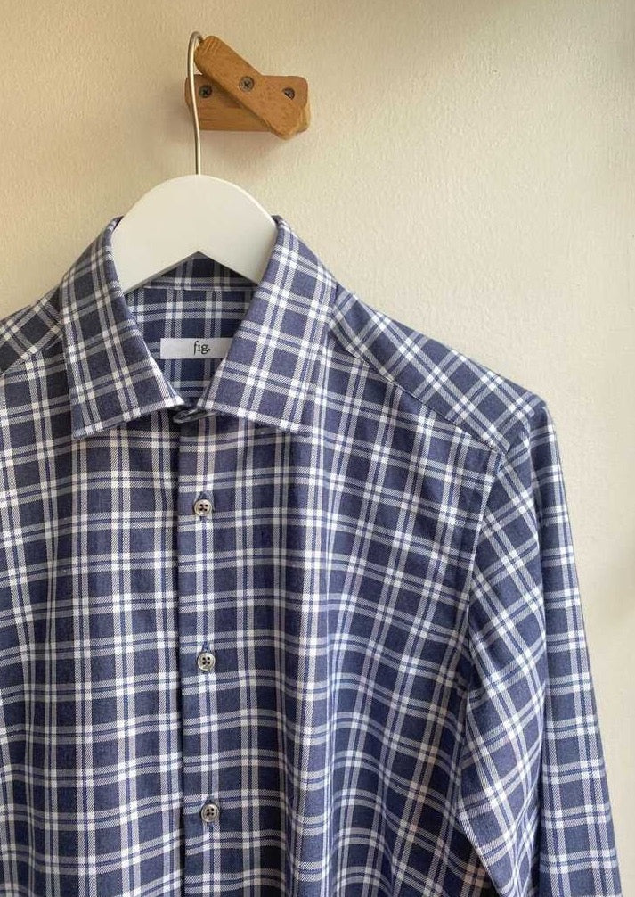 Fig Long Sleeve Check Button Down
