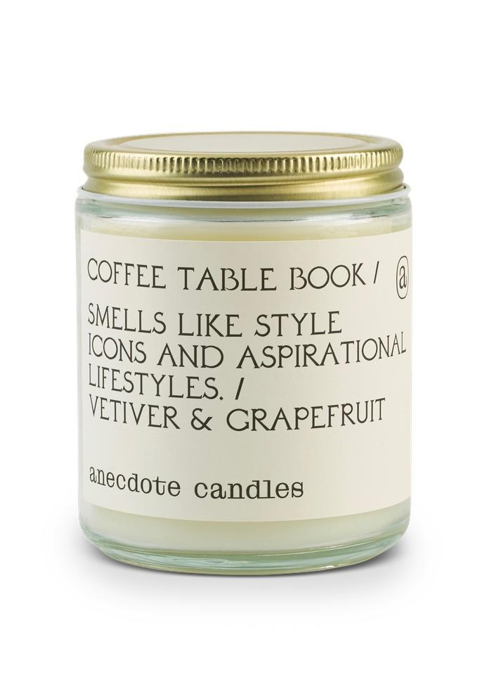 Coffee Table Book Candle