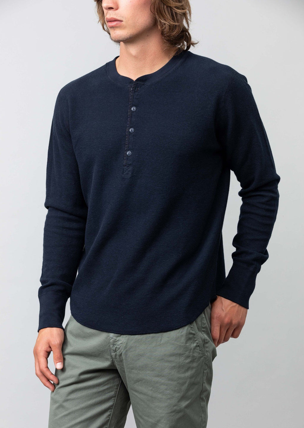 L/S Thermal Pointelle Henley