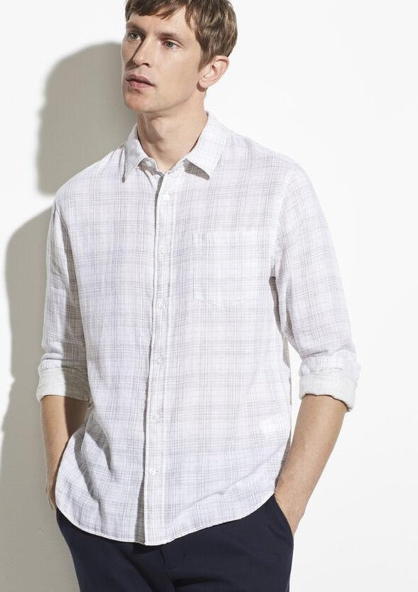 Double Face Grid Plaid Long Sleeve
