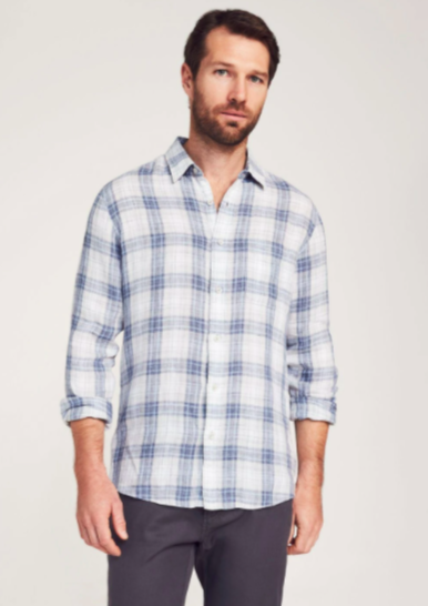 Linen Laguna Shirt Plaid