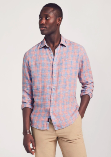Linen Laguna Shirt Paloma Plaid