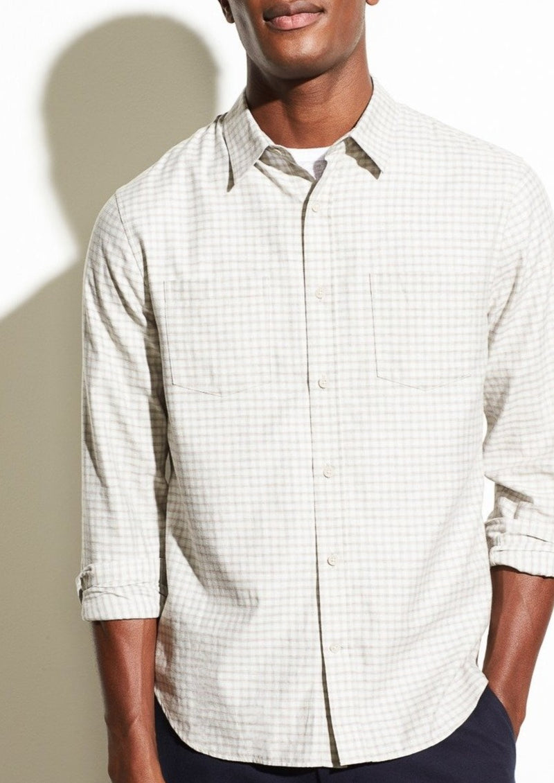 Tonal Plaid Long Sleeve