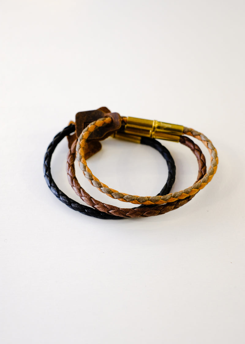 Flint Single Waxed Canvas Bracelet
