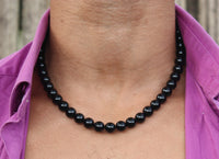 19 inch Black Onyx Necklace 10mm