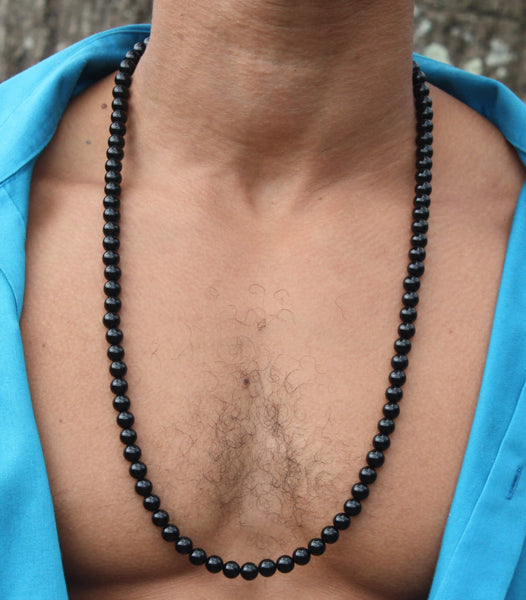 30 inch Black Onyx Necklace 8mm