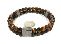 Tiger Eye Bracelet 2 Row Bracelet