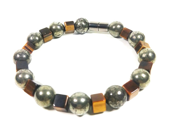 Pyrite & Tiger Eye Bracelet
