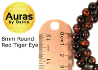 30 inch Red Tiger Eye Necklace 8mm