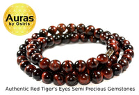 19 inch Red Tiger Eye Necklace 10mm