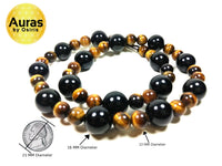 tigers eye black onyx necklace