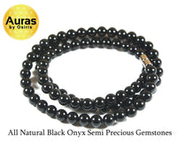 24 inch Black Onyx Necklace 8mm