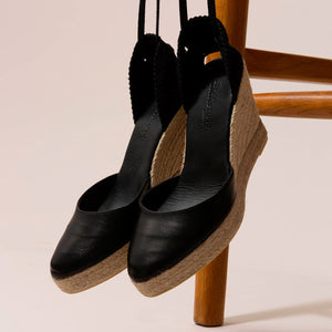 Sardinia Wedge Tibet Negro Yute Natural