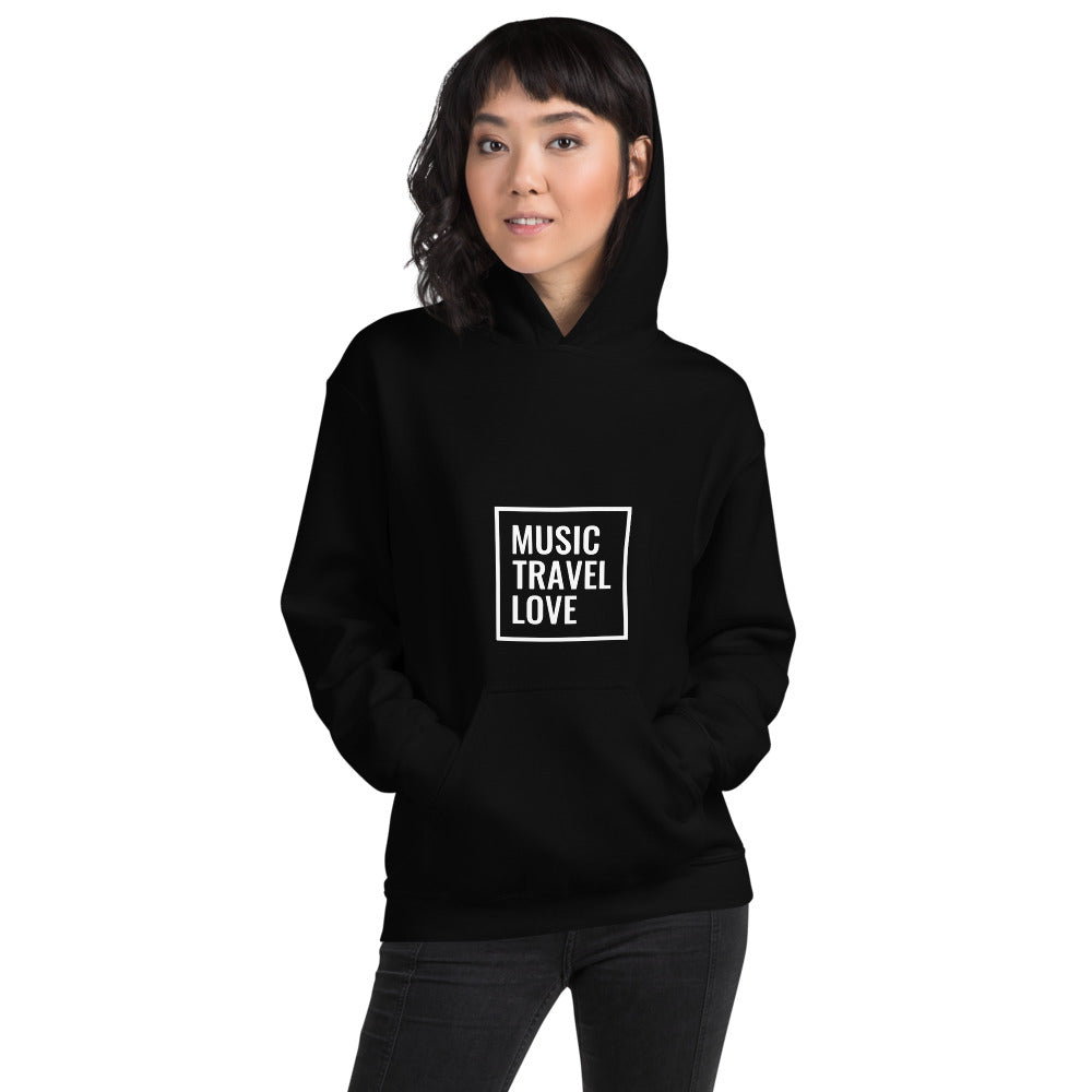 Music Travel Love Female Hooded Sweatshirt