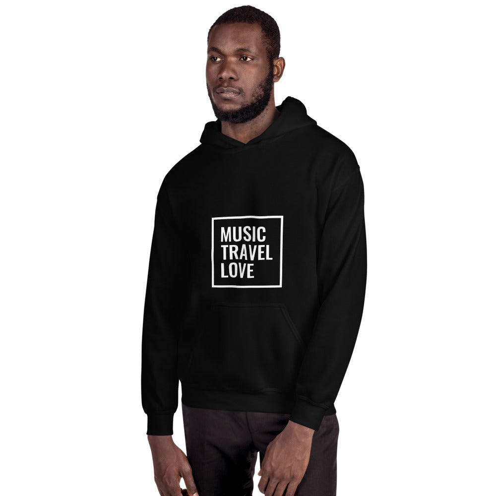 Music Travel Love Male Hooded Sweatshirt