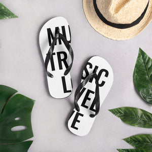 Music Travel Love Flip-Flops