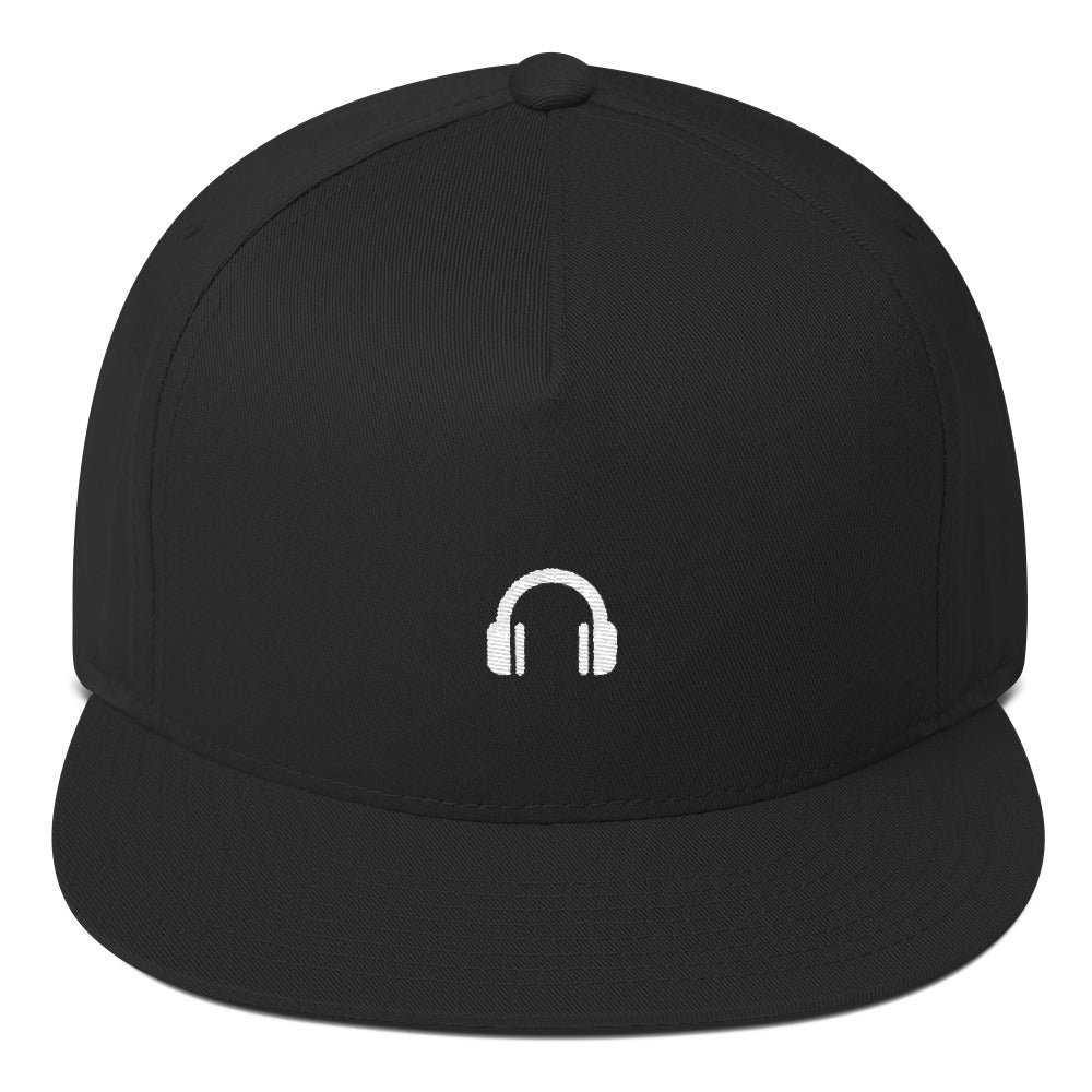 Headphone Flat Bill Cap