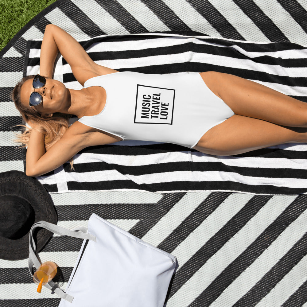 Music Travel Love One-Piece Swimsuit