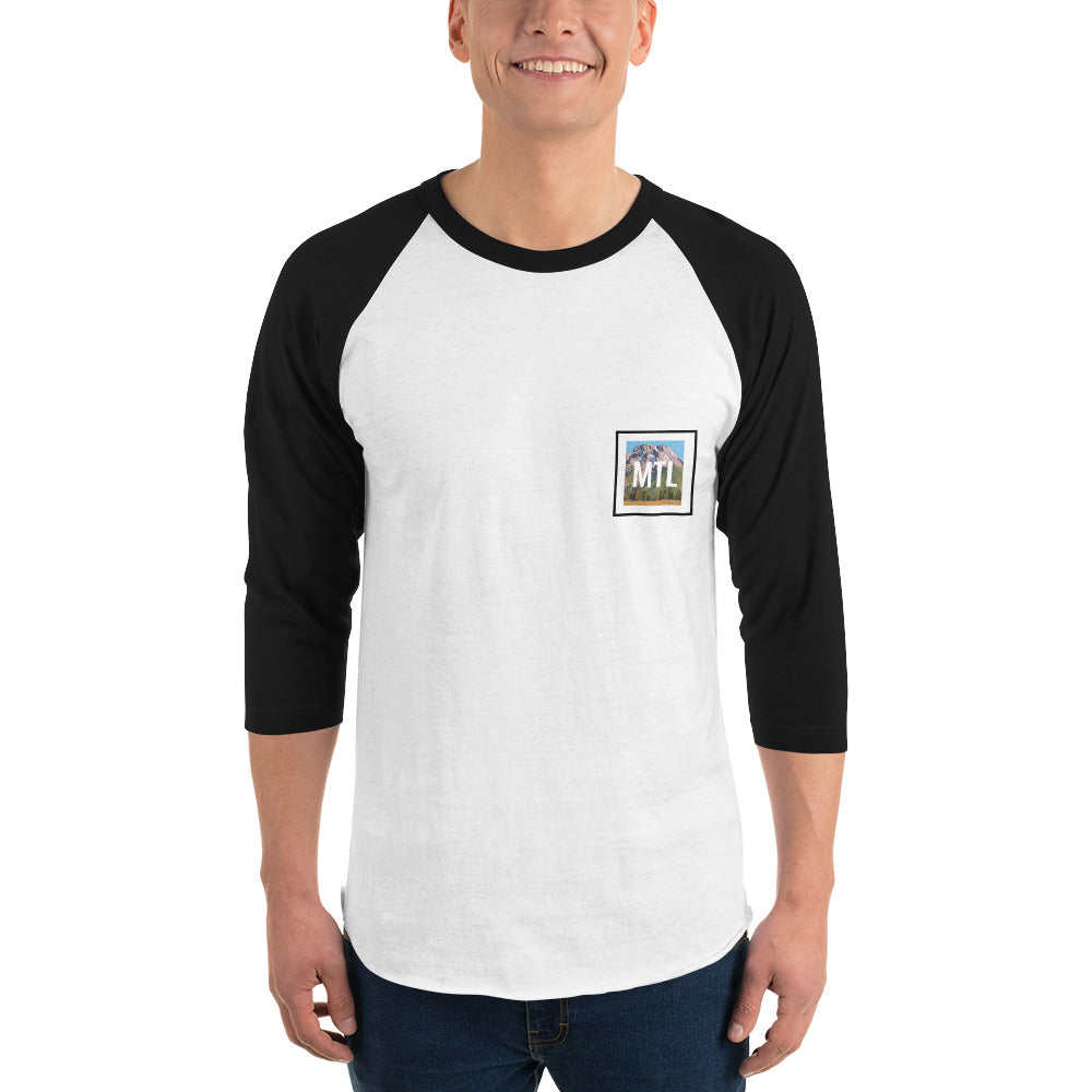 MTL Mountain 3/4 sleeve raglan shirt