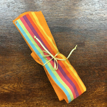 Reusable cutlery wrap - Orange