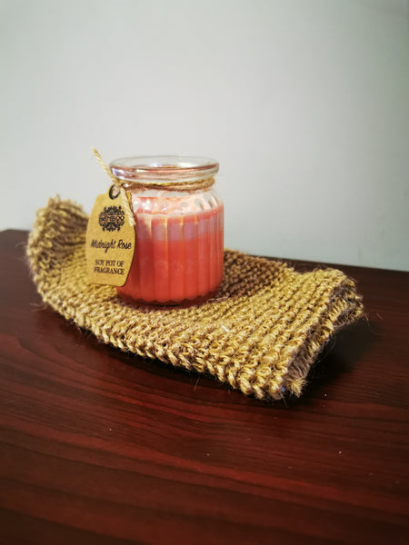 Midnight Rose Soy Pot Candle