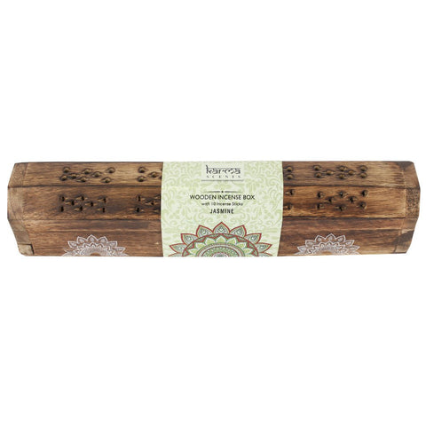 Karma jasmine incense wooden set