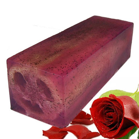 Loofah Soap - Rough & Ready Rose - The Wooden Elephant LTD