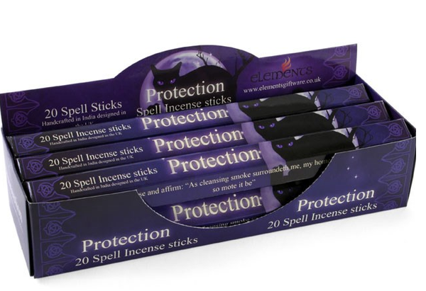 Protection spell incense by elements