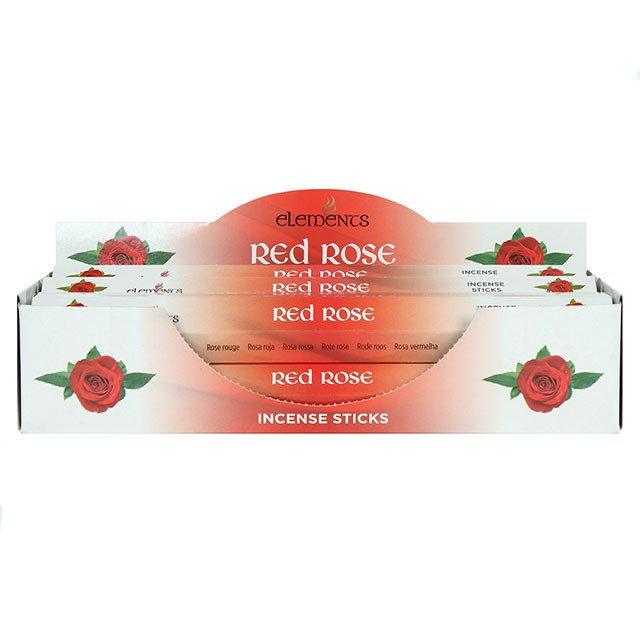 Red rose incense stick by elements - The Wooden Elephant LTD