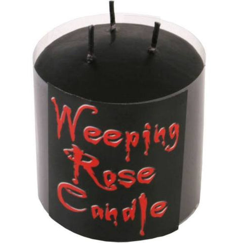 Weeping rose candle
