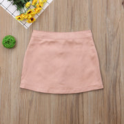 Bella Button Skirt